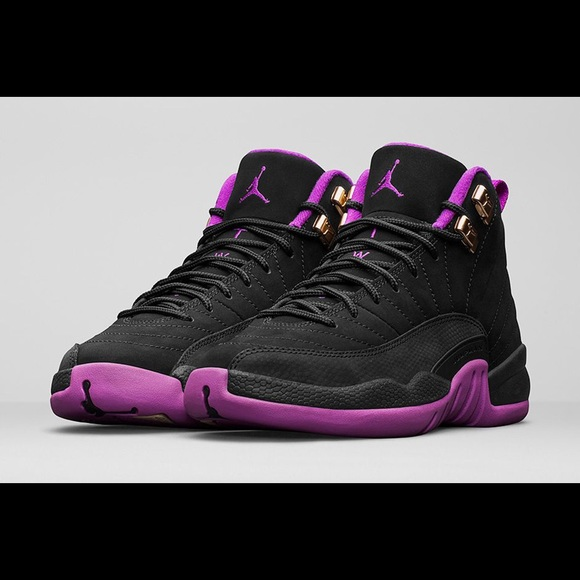 08bb503e6b6 Jordan Shoes | Black Hyper Violet Retro 12 S | Poshmark